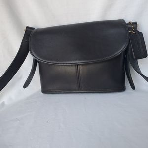 Coach Black Vintage Crossbody with Gold Hardware
